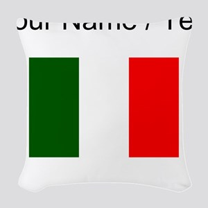 Custom Italy Flag Woven Throw Pillow