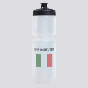 Custom Italy Flag Sports Bottle