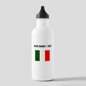 Custom Italy Flag Water Bottle