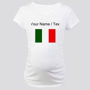 Custom Italy Flag Maternity T-Shirt