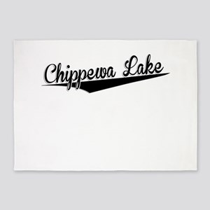 Chippewa Lake, Retro, 5'x7'Area Rug