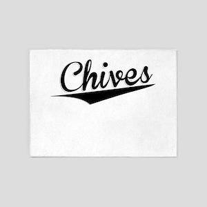 Chives, Retro, 5'x7'Area Rug