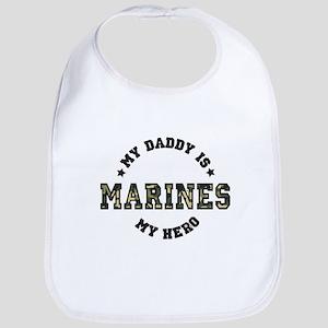 My Daddy is My Hero MARINES Bib