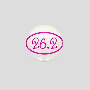 26.2 Marathon Pink Girly Mini Button