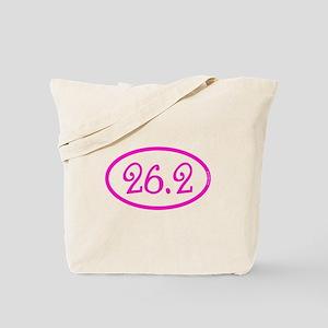26.2 Marathon Pink Girly Tote Bag