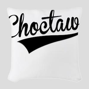 Choctaw, Retro, Woven Throw Pillow