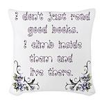 Reading.... Woven Throw Pillow