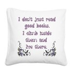 Reading.... Square Canvas Pillow