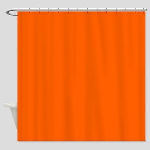 VIVID ORANGE Shower Curtain