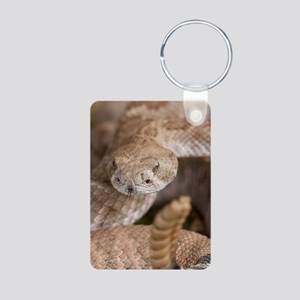 Rattlesnake Aluminum Photo Keychain
