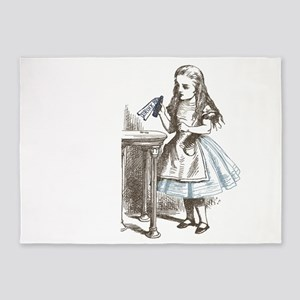 Alice in Wonderland drink me 5'x7'Area Rug