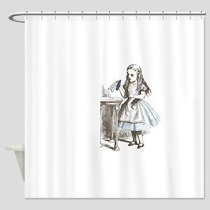 Alice in Wonderland drink me Shower Curtain
