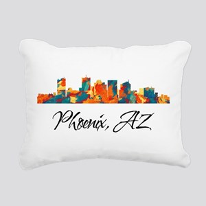 Phoenix Arizona Skyline Rectangular Canvas Pillow