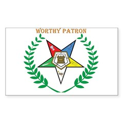 OES Worthy Patron Rectangle Decal