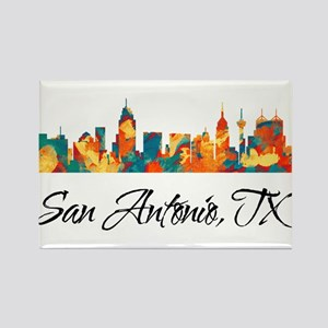 San Antonio Texas Skyline Rectangle Magnet