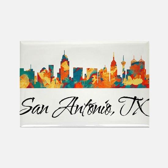 San Antonio Texas Skyline Rectangle Magnet