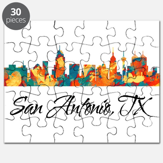 San Antonio Texas Skyline Puzzle