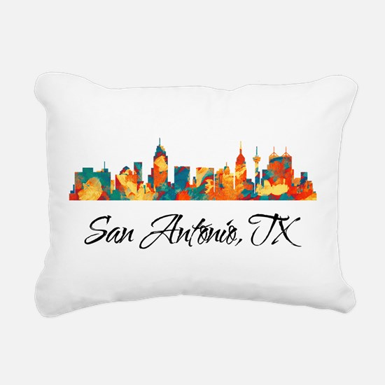 San Antonio Texas Skylin Rectangular Canvas Pillow