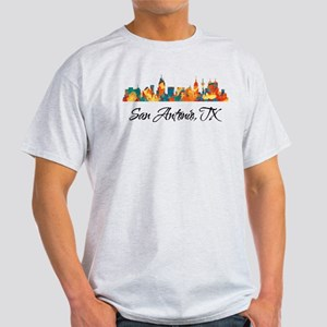 San Antonio Texas Skyline Light T-Shirt