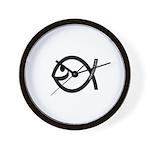 Small Smiling Fish Wall Clock