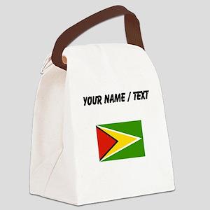 Custom Guyana Flag Canvas Lunch Bag