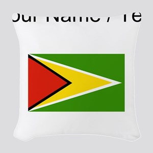 Custom Guyana Flag Woven Throw Pillow