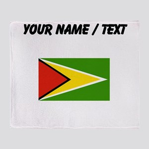 Custom Guyana Flag Throw Blanket