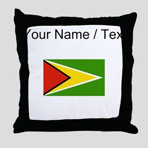 Custom Guyana Flag Throw Pillow