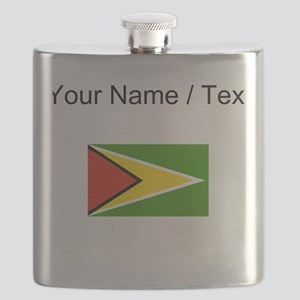 Custom Guyana Flag Flask