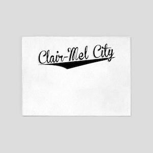 Clair-Mel City, Retro, 5'x7'Area Rug