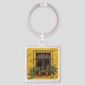 The Sun Window Square Keychain