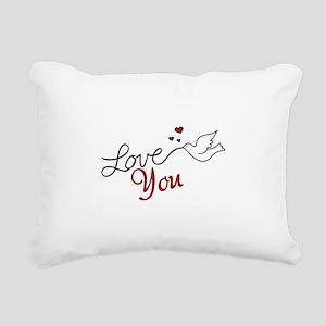 Love You Rectangular Canvas Pillow