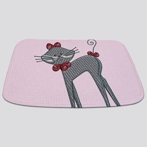 Ribbon Kitty Bathmat