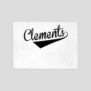 Clements, Retro, 5'x7'Area Rug
