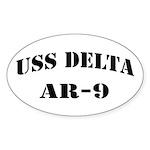 USS DELTA Sticker (Oval)