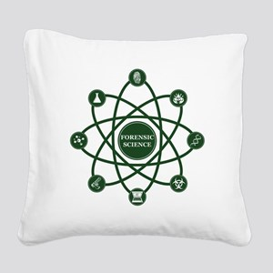 Atomic Square Canvas Pillow