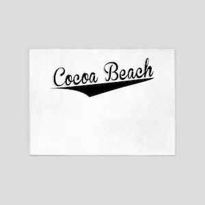 Cocoa Beach, Retro, 5'x7'Area Rug