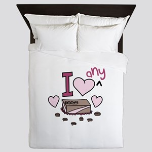 I Love Any Chocolate Queen Duvet