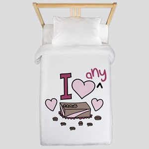 I Love Any Chocolate Twin Duvet