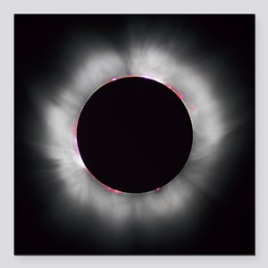 "Total Solar Eclipse 1999 Square Car Magnet 3"" x 3"""