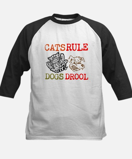 CATS Rule Dogs Drool Baseball Jersey
