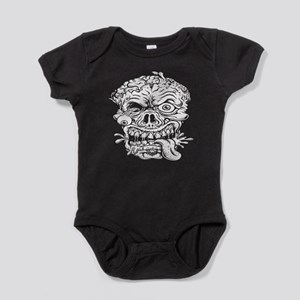 Zombie Head in White Baby Bodysuit