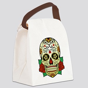 Sugar Skull Canvas Lunch Bag