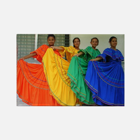 Rainbow Dancers Rectangle Magnet