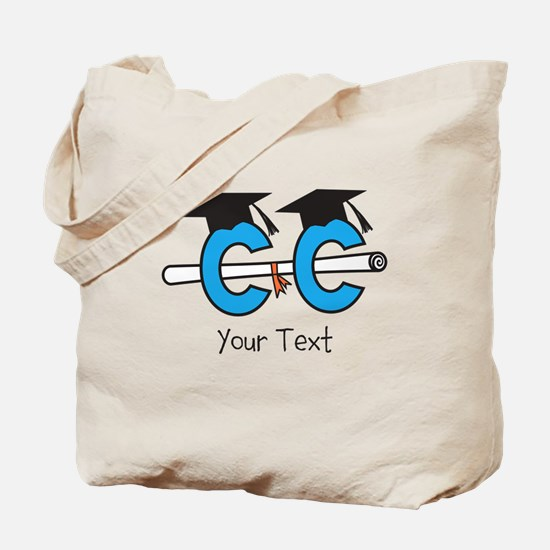 Text Option Cross Country Grad Tote Bag