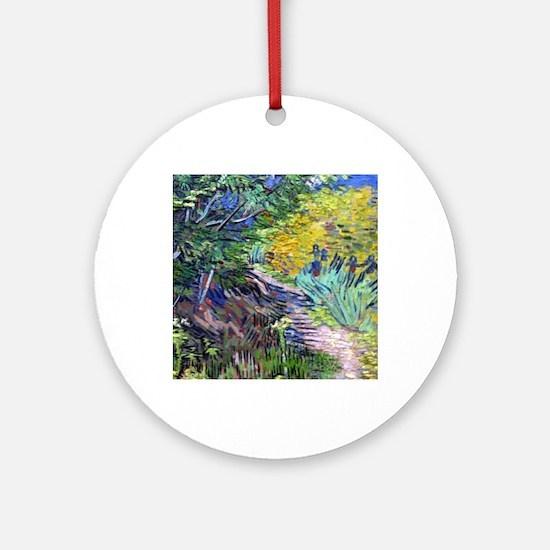 Van Gogh's Irises  Round Ornament