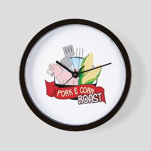 PORK CORNY ROAST Wall Clock