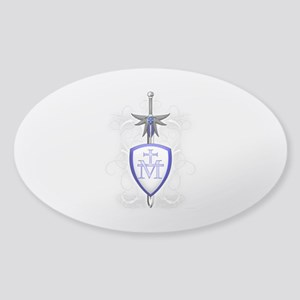 St. Michael's Sword Sticker (Oval)