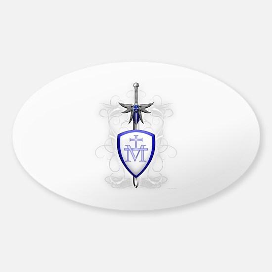 St. Michael's Sword Sticker (Oval)