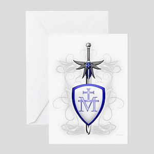 Saint michael greeting cards cafepress st michaels sword greeting card m4hsunfo